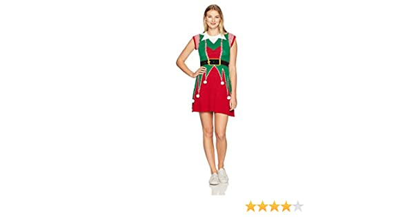 Ugly Christmas Sweater Women's Elf Sweater Dress
