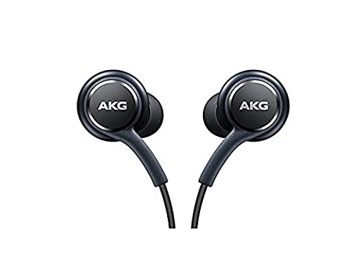 Black AKG Samsung Earphones Headphones Headset Handsfree For Samsung Galaxy S8 & S8 Plus+ in Bulk (Bluetooth Tangle Free Headphones)