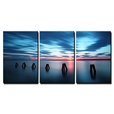 Top Quality Design, Elegant Piece, Ocean Sunset x3 Panels