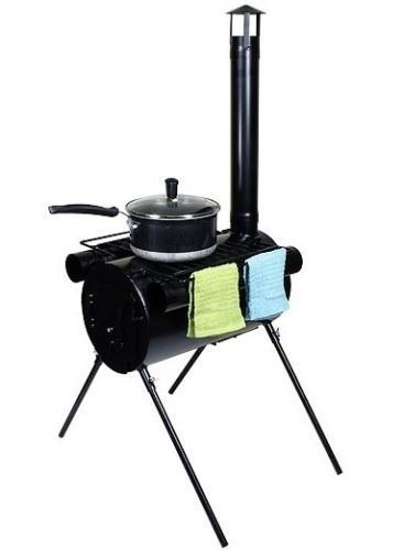 Portable Military Camping Wood Stove Tent Heater Cot Camp Ice-Fishing Cooking RV (Maytag Oven Broiler Element compare prices)