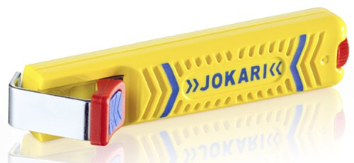 Jokari 10160 Secura Cable Stripping Knife for All Standard Round Cables, No. 16, 13.2cm L x 2.9cm W x 3.5cm H (Best Knife For Stripping Wire)