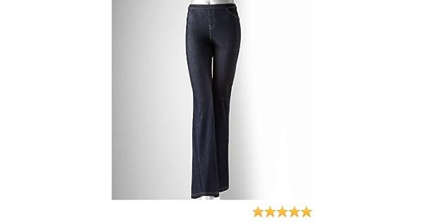 53a6c1e3dec Simply Vera Vera Wang Rivet Bootcut Denim Leggings at Amazon Women s Jeans  store