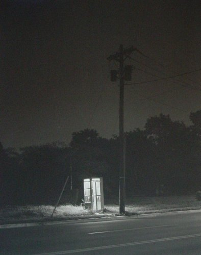 Telephone Booth, 3 A.M., Rahway, New Jersey (Platinum/paladium Print, Edition of 30)
