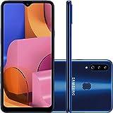 "Smartphone Samsung Galaxy A20S 32Gb Dual Chip Android 9.0 Tela 6.5"" Octa-Core 1.8 Ghz 4G Câmera Tripla 13.0 Mp + 5.0 Mp + 5.0 Mp(Uw) - Azul"