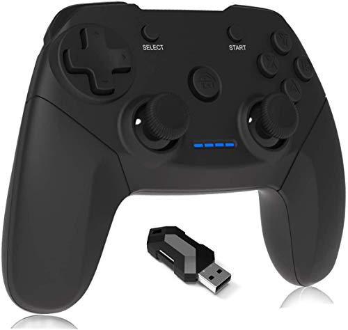Maegoo Controller for PC, 2.4G Remote Wireless Game Controller PS3 Gamepad Joystick with Dual Shock Rechargeable for…