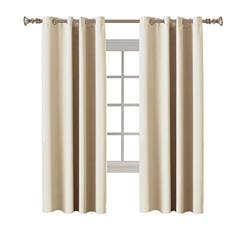 (Turquoize Bedroom Blackout Curtains Room Darkening Draperies Elegant Grommet Blackout Thermal Insualted Solid Curtains/Drapes, 52