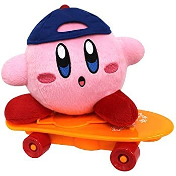 SK Japan Kirbys Dream Land: Kirby Skateboard Gimmick Stuffed Plush Toy