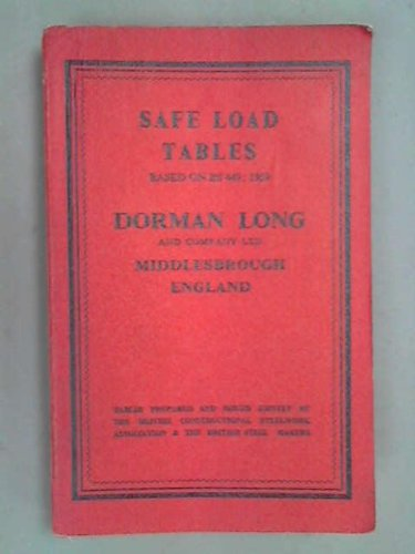 - Safe load tables,based on BS.449:1959: Tables prepared and issued jointly by the British Constructional Steelwork Association and the British Steel Makers