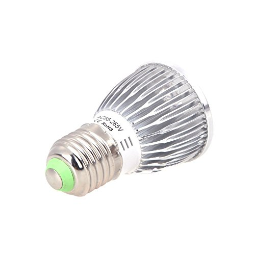 LED Plant Grow Light Bulb 5W High Efficient Hydroponic Full Spectrum Growing Lamp E27 for Indoor Plants Hydroponic Aquatic Garden Greenhouse, Vegetables (4 blue 1 red )