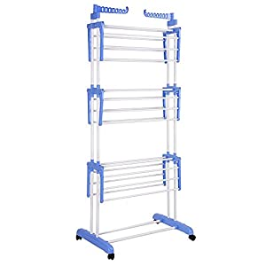 "66"" Laundry Clothes Storage Drying Rack Portable Folding Dryer Hanger Heavy Duty"