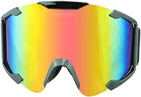 LALEO Motorcycle Off-Road Goggles UV Protection Multipurpose Dustproof Windproof Orange Lens Half Helmet for Kids Men and Women Riding Glasses Sport Outdoor Motorcross ATV Bike Sunglasses