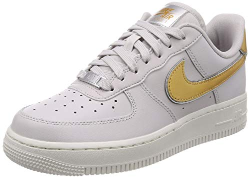 '07 1 Grey Wmns De Gold summit Air White vast Multicolore Chaussures Mtlc Nike Basketball metallic Femme 001 Force ftI7yqww