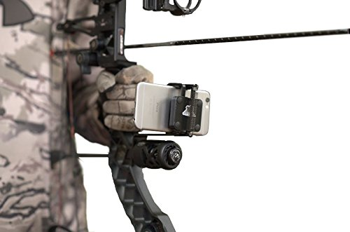 WHITETAIL COUNTRY Fighting Squirrel Smartphone Bow Mount Phone Clamp Holder Bracket for Archery Hunting Video Camera with Apple iPhone and Samsung Galaxy ()