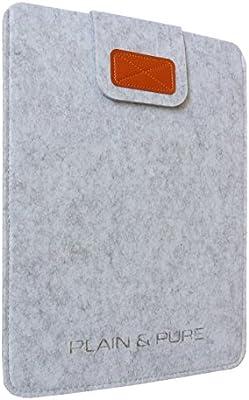 PLAIN & PURE móvil Fieltro 13, MacBook Air/Pro, Ultrabook gris Hellgrau meliert 34,4 x 25,4 x 0,6 cm (L x B x H)