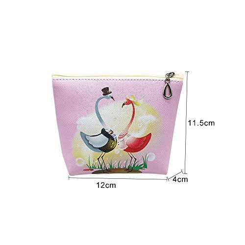 Pochette Ymysfit Femme Monnaie Flamant Motif Portefeuille HN606 Imprimé pour Mignonne qqEwHFC