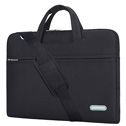 YOUPECK 11.6 11 inch Laptop Case, Laptop Shoulder Bag, Waterproof Notebook Sleeve, Carrying Case with Strap for Chromebook MacBook HP Stream Samsung Acer Asus Dell Lenovo Tablet, Black (Best Touch Screen Laptop Tablet)