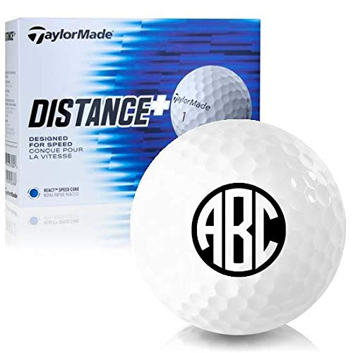 - Taylor Made Distance+ Monogram Personalized Golf Balls