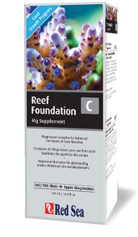 - Red Sea Fish Pharm ARE22033 Reef Foundation Magnesium Supplement-C for Aquarium, 500ml