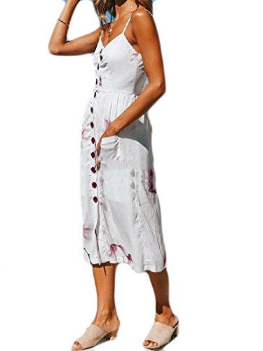Coolred White Women Pendulum Print Shirt Cami Dress Party Big Buckle Bechwear Sun pPpwRCqnr