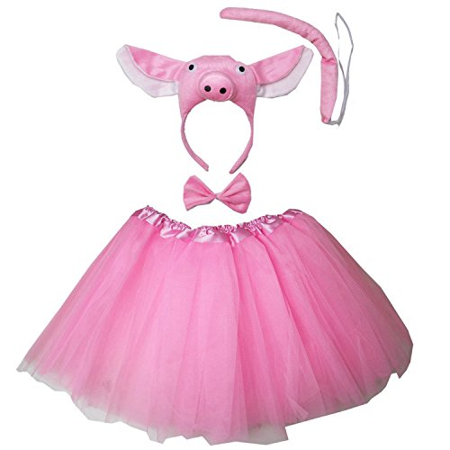 Cute Halloween Costumes For Groups Of Three (Kirei Sui Pig 3D Costume Tutu)