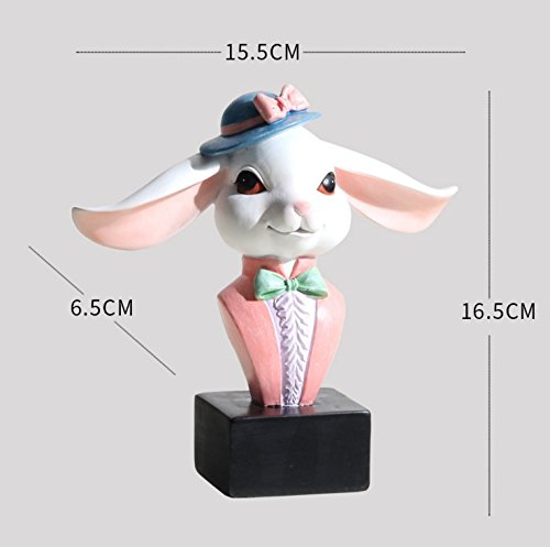Bamboo's Grocery Rabbit Eyeglasses Sunglasses Holder, Decorative Glasses Spectacle Display Stand Rack Gifts (white rabbit)