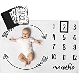 Henry Hunter Baby Monthly Milestone Blanket with Marker & Milestone Cards