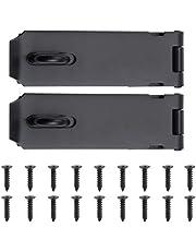 WiMas 2 Pack Roestvrij stalen deur hangslot gesp, Heavy Duty Lock Latch deurbout, veiligheid deur poort slot Latch voor deur kast tuinpoort, 5 inch, zwart