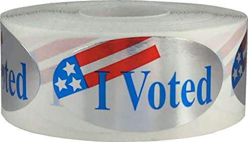 I Voted Stickers 2 x 1″ Oval Qty. 500