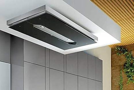 Airforce F139 A - Campana de cocina para techo (120 cm, con mando a distancia), cristal negro y acero inoxidable: Amazon.es: Grandes electrodomésticos