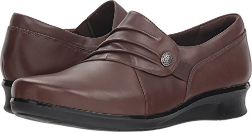 - Clarks Women's Hope Roxanne Loafer, Brown Leather, 7 W US