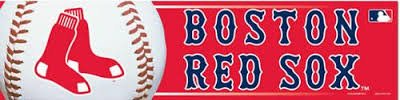 (WinCraft MLB Boston Red Sox Bumper Sticker, Team Color, One Size)