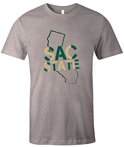 NCAA Cal State Sacramento Hornets Stenciled Short Sleeve Triblend T-Shirt, Large,AthleticGrey