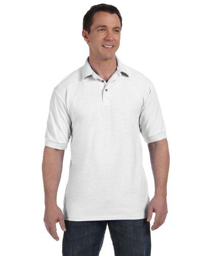 Men's 7 oz Hanes STEDMAN Cotton Pique Polo, White, ()