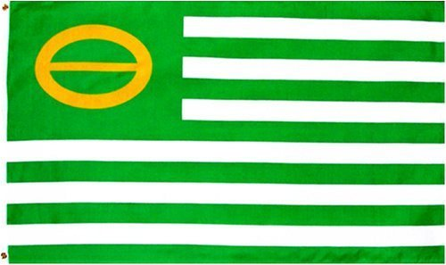 NEW 3X5 GREEN ECOLOGY FLAG PEACE 3 X 5 3ft x 5ft Banner