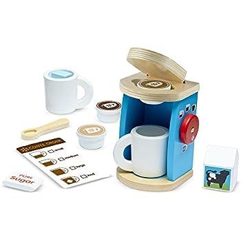 Amazon Com Melissa Amp Doug 11 Piece Brew And Serve Wooden
