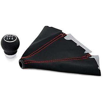 FITS VOLVO V40 S40 black stitch AUTOMATIC LEATHER GAITER GAITER