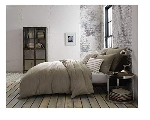 Kenneth Cole Mineral Yarn-Dyed Full/Queen Duvet Cover in Sto