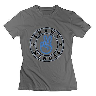 Shawn Handwritten Mendes 1998 pattern Women's Tshirt Tee DeepHeather