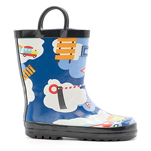 Mucky Wear Children's Rubber Rain Boot, Trains, 11T US Toddler (Childrens Boot Rain)