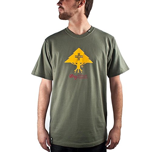 (LRG Core Collection Five Men's Short-Sleeve Casual Wear T-Shirt/Tee - Olive)