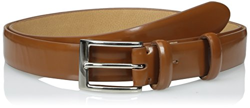 Cole Haan Men's 30 MM Webster Buckle Belt, Cognac, 44 (Mens British Tan Leather Belt compare prices)