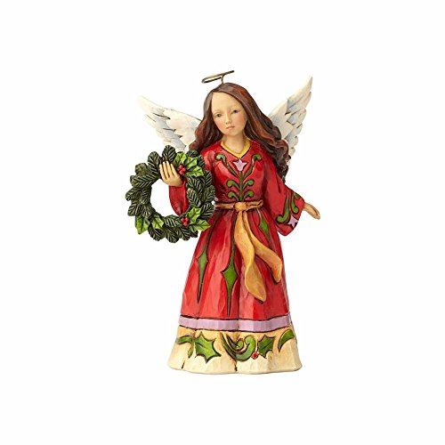 Enesco Jim Shore Heartwood Creek Pint Sized Angel with Wreath