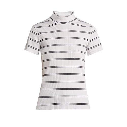 露変換気まぐれな(アーペーセー) A.P.C. レディース トップス Clea striped cotton-blend top [並行輸入品]