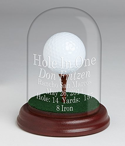 - Eureka Golf Products Glass Dome Hole-in-One Trophy-Free Personalization