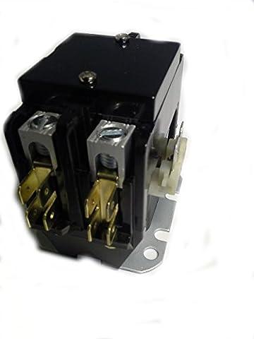 45GG20AJ Magnetic Contactor fits Rheem, Goodman, 2 pole 40A 24V (Rheem Contactor)
