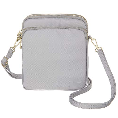 MINICAT RFID Blocking Small Travel Crossbody Purse Nylon Purses and Handbags Crossbody For Women(Grey)