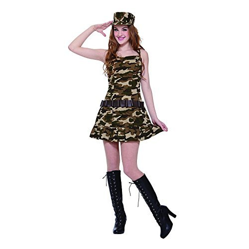 Totally Ghoul Teen Army Cadet Costume, Teen One Size Fits Most