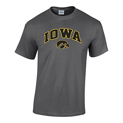 Ncaa Iowa Hawkeyes (Elite Fan Shop NCAA Men's Iowa Hawkeyes T Shirt Dark Heather Arch Iowa Hawkeyes Dark Heather Large)