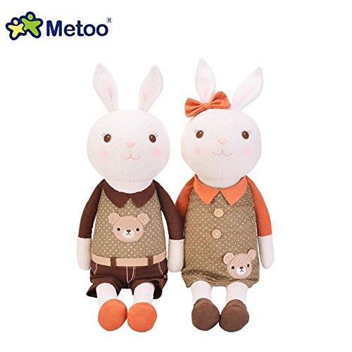 Metoo Upgraded Lovers style Tiramisu Rabbit Plush Toy Doll Stuffed Bunny Lovely Gift for Children Couple Bear Head 1245A13