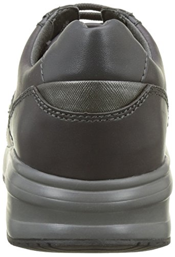 Noir Sneakers Gris Geox A Dennie Anthracite Basses U Homme pw64Y